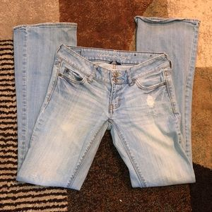 American Eagle boot cut distressed jeans size 2